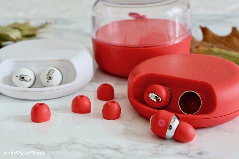 auricolari bluetooth custom rossi e bianchi