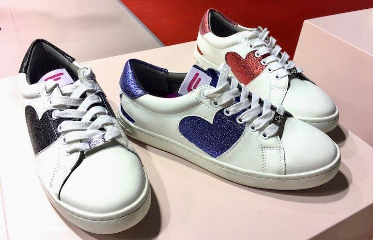 sneakers Fornarina con cuore glitterato
