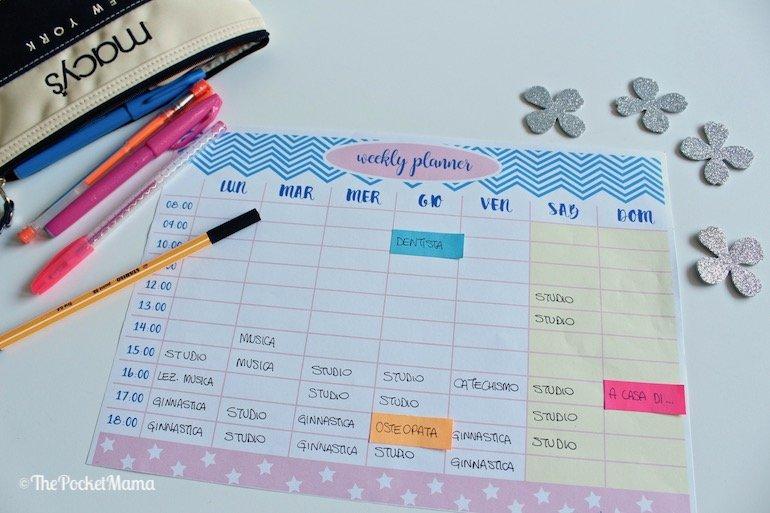 weekly planner da stampare