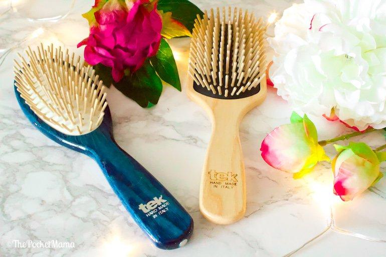 spazzole in legno naturale Tek