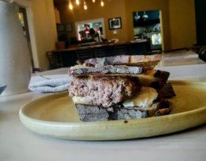 Sausage Florentine Sandwich.