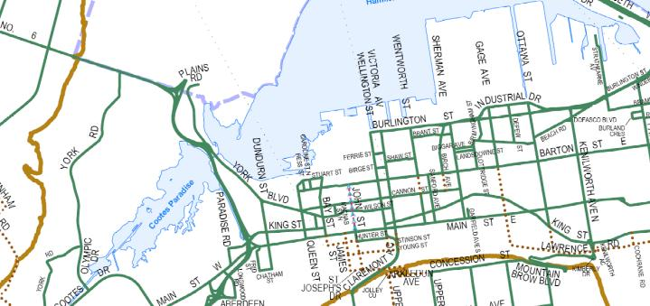Map of truck routes