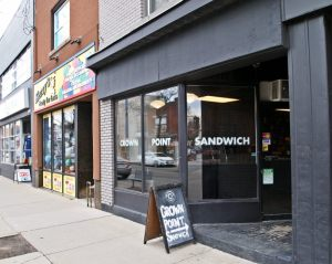 Crown Point Sandwich on Ottawa Street.