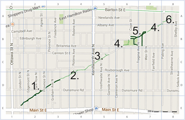 Map of Pipeline Trail and Events
