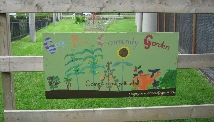 Gate to Gage Park Community Garden