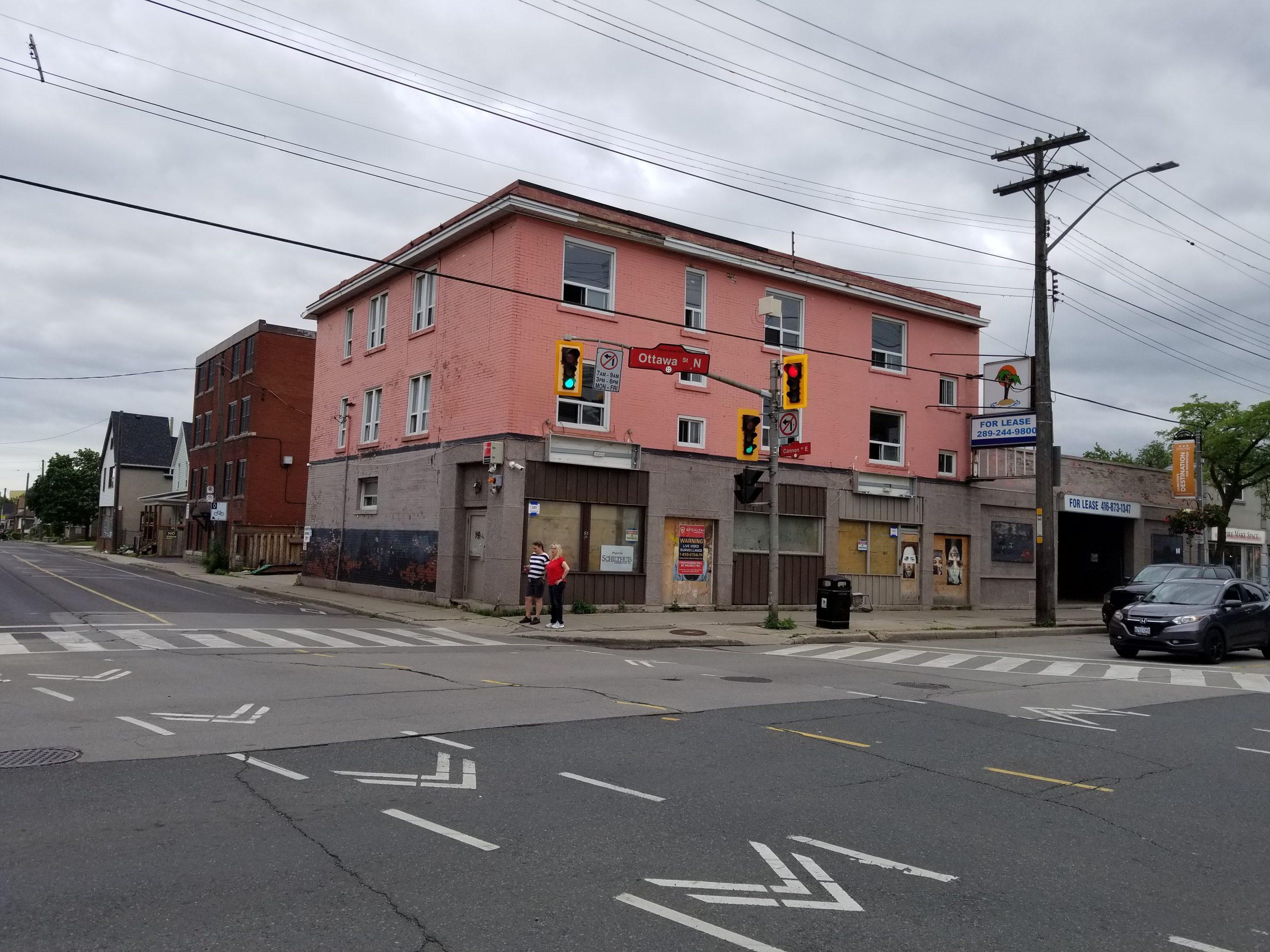The corner of Ottawa and Cannon.