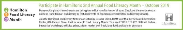 Hamilton Food Literacy Month