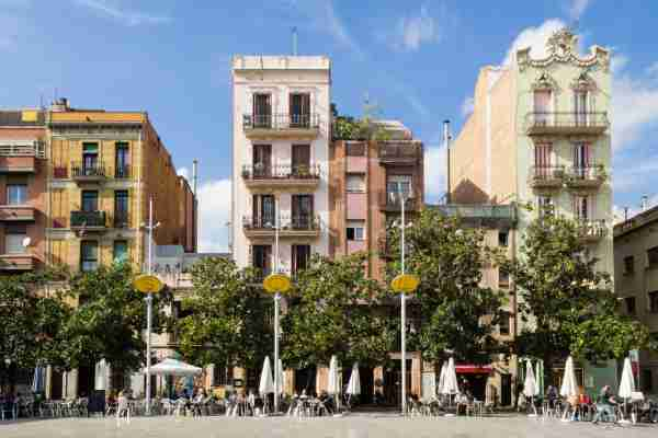Placa del Sol in Barcelona's Gracia district. (Photo by thamerpic/Getty Images)