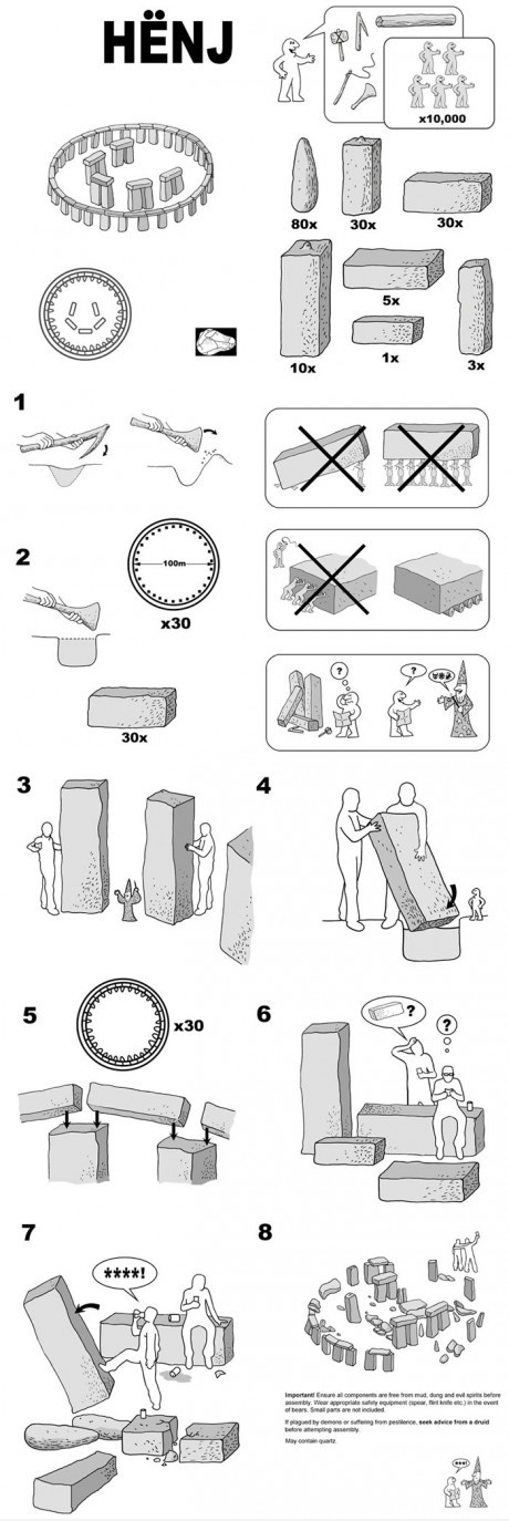 Ikea instructions for Stonehenge
