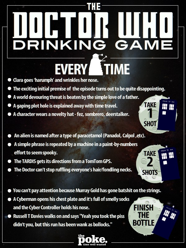 The Doctor Who Drinking Game The Poke