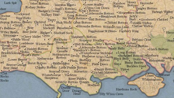 A Map Of Britains Rudest Place Names The Poke