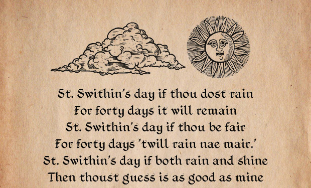 An updated St Swithins day proverb The Poke