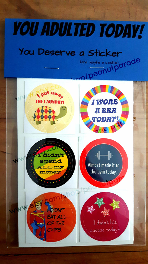 Its time for adults to get reward stickers for doing