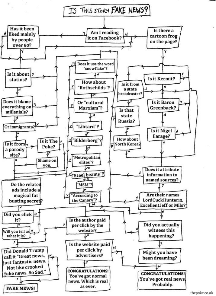 Un diagramma di flusso per aiutarvi a scoprire se state leggendo le notizie false