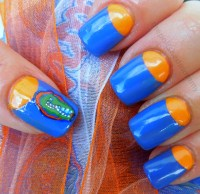 Florida Gator Nail Designs