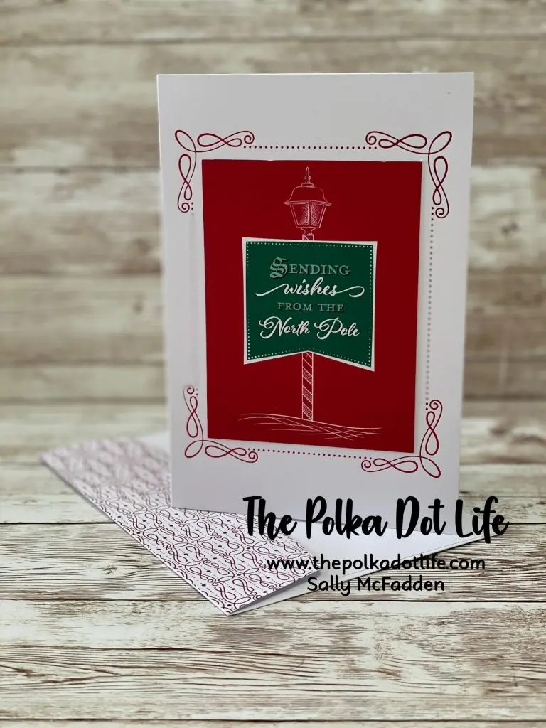 A photo of a Christmas greeting card that is made with Stampin' Up's Wonder of the Season Memories & More Cards & Envelopes .