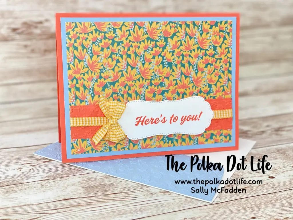 This greeting card is an alternative Paper Pumpkin March 2021 kit. It is a happy and cheery card!