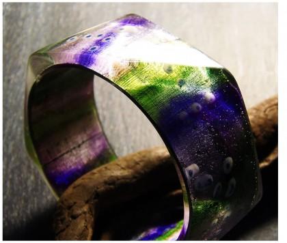 Helene Jeanclaude resin bracelet