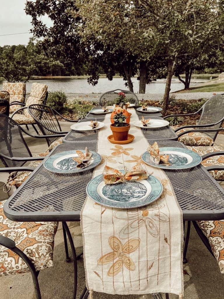 cheap outdoor table ideas the ponds farmhouse