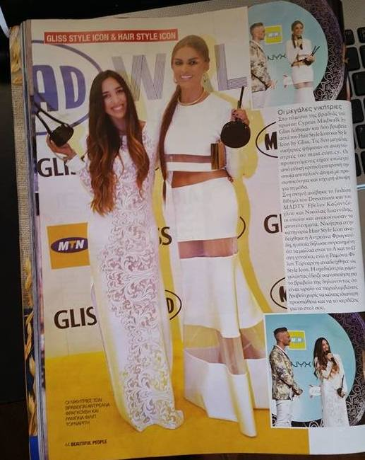 Featured in Beautiful People Magazine with Fashion Style Icon winner Ramon Filip.