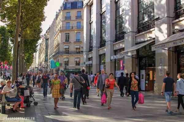 Champs Elysees Shopping Paris