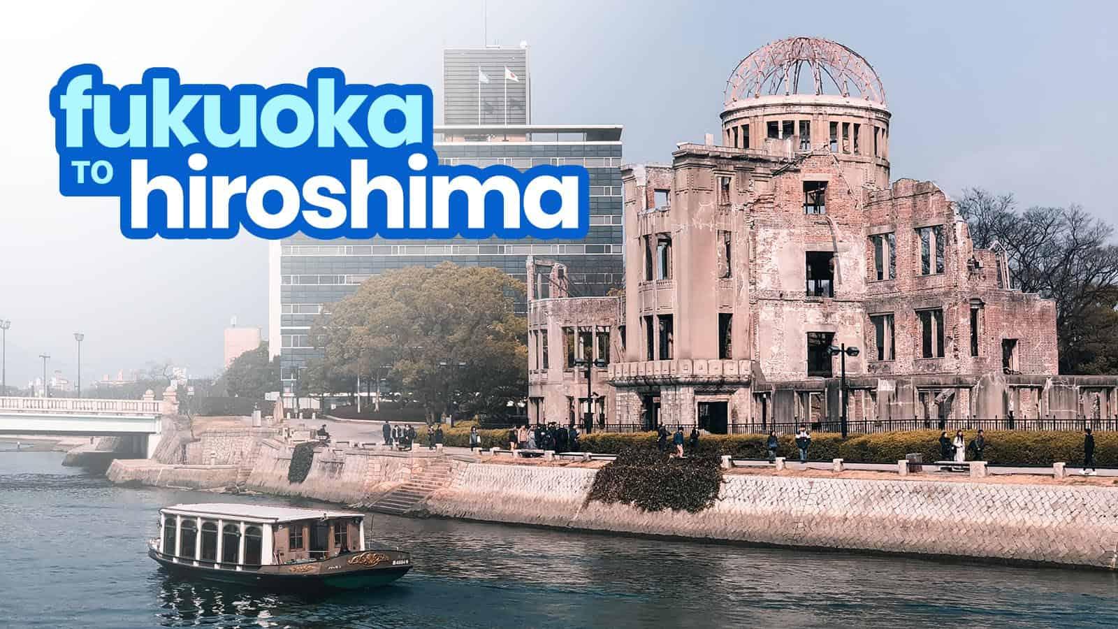 Fukuoka To Hiroshima By Bus And Bullet Train Shinkansen