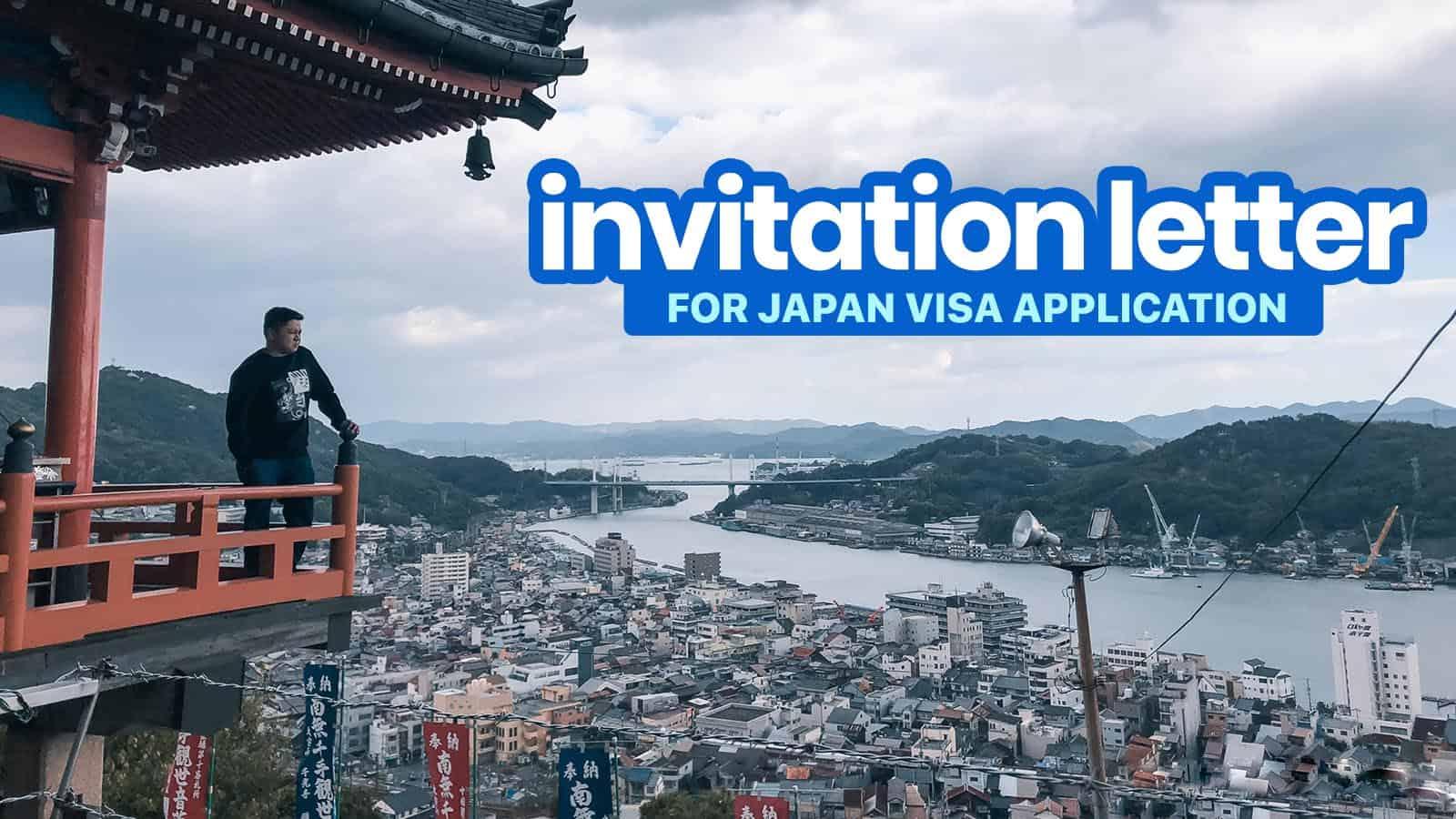 sample invitation letter for japan visa