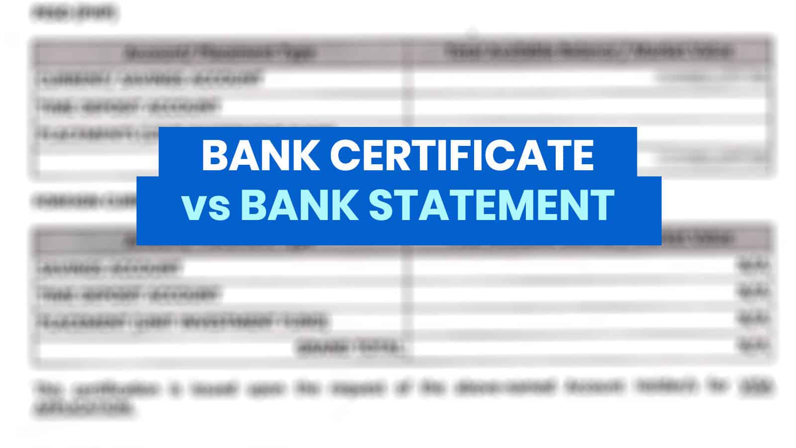 Bank Certificate Vs Bank Statement What S The Difference Which Is Needed For Visa Application The Poor Traveler Itinerary Blog