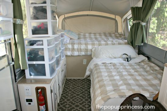 How We Organize Our Pop Up Camper  The Pop Up Princess
