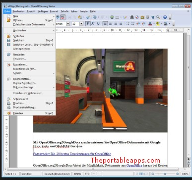 Open Office Portable free Download for Windows 7