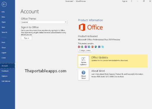 Microsoft Office 2019 Preview Build 16.0 Portable