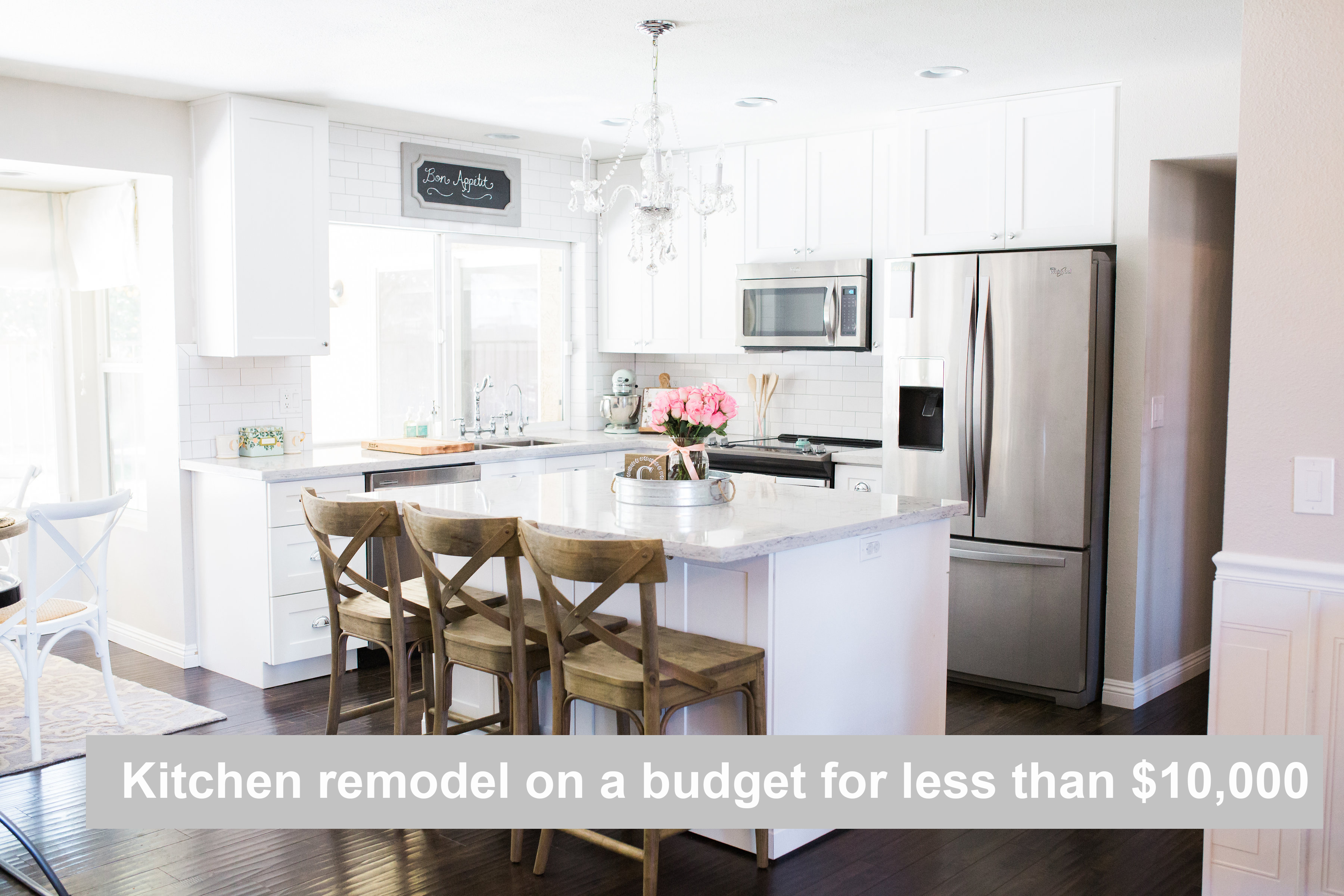Kitchen remodel on a budget for under 10000