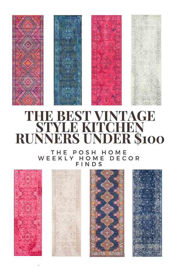 kitchen rug runners floating cabinets the best budget friendly under 100 vintage style