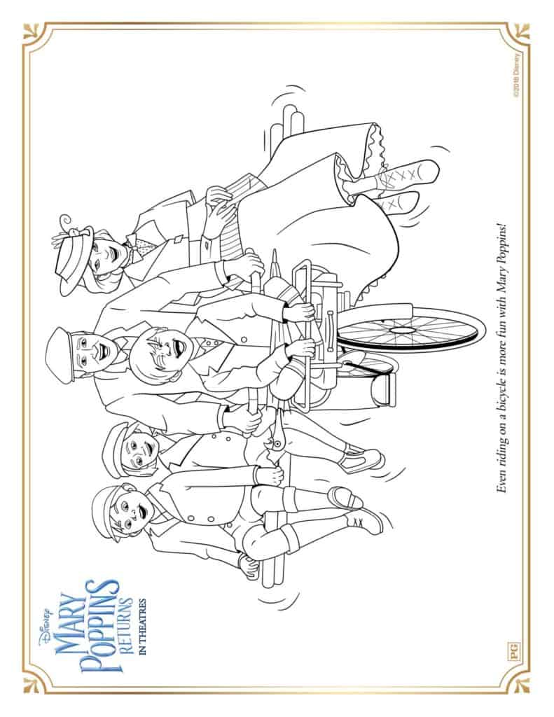 free mary poppins returns printable activity sheets