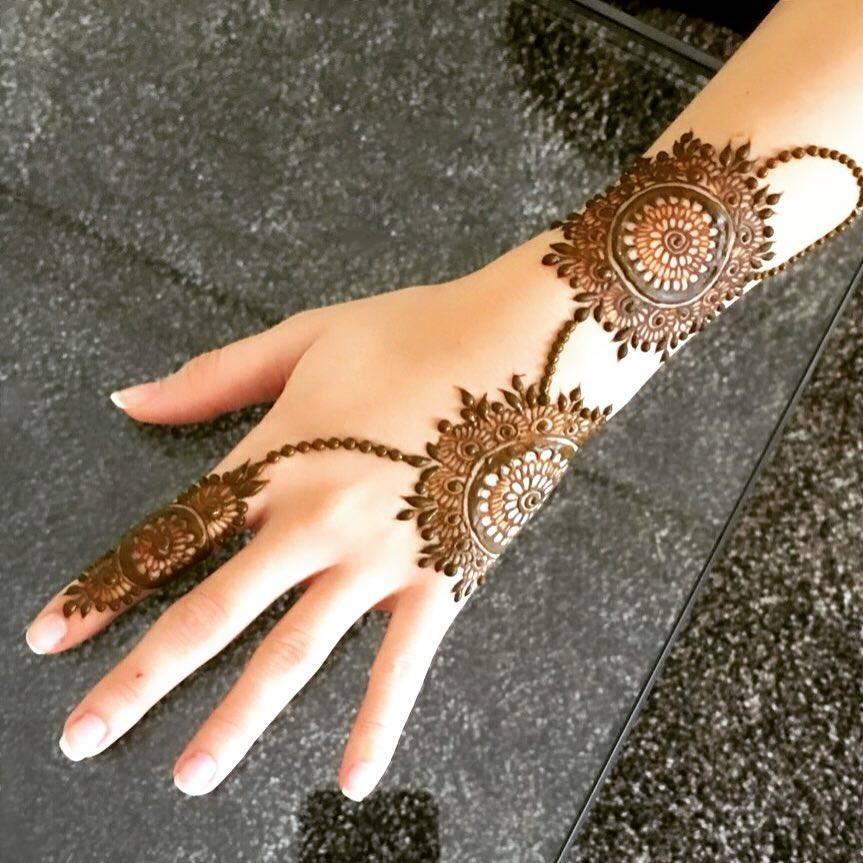 Simple Arabic Mehndi Designs For Back Hands 2019