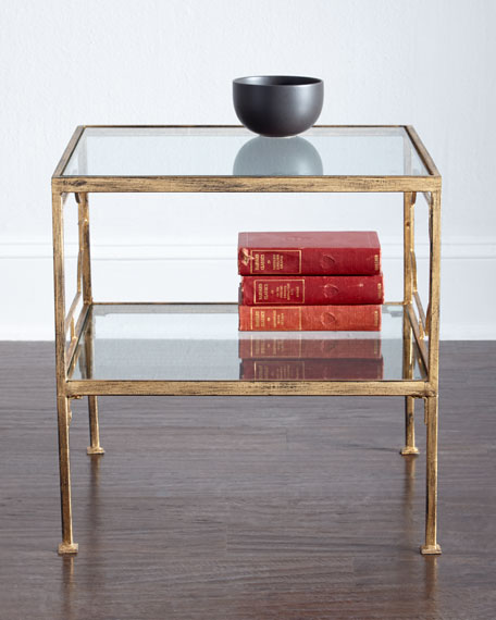 Cubed end table via Horchow
