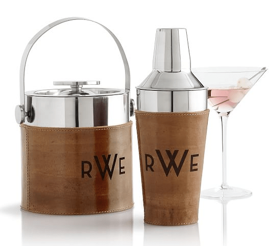 Mark and Graham Leather Cocktail Shaker