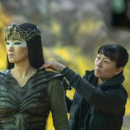 Gong Li as Xianniang behind the scenes of Disney's MULAN. Photo credit: Jasin Boland. © 2020 Disney Enterprises, Inc. All Rights Reserved.