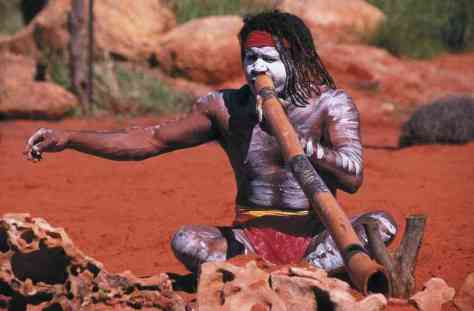 didgeridoo player