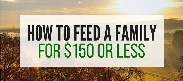 Reduce The Food Budget: Feed A Family For $150 A Month