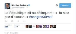 Sarkozy - La République dit aux délinquants...