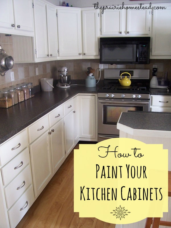 How To Paint Your Kitchen Cabinets • The Prairie Homestead