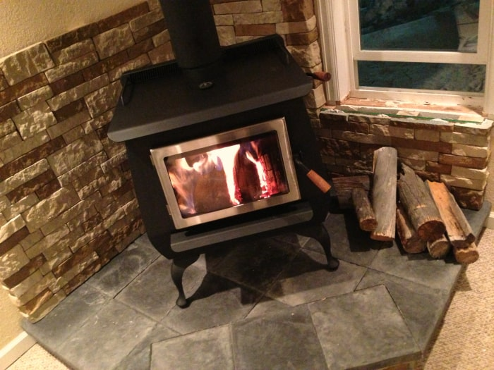 Our Diy Wood Stove Installation The Prairie Homestead