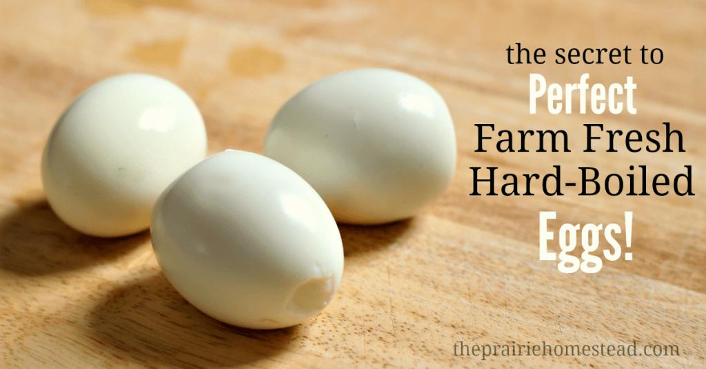 how to peel farm fresh eggs