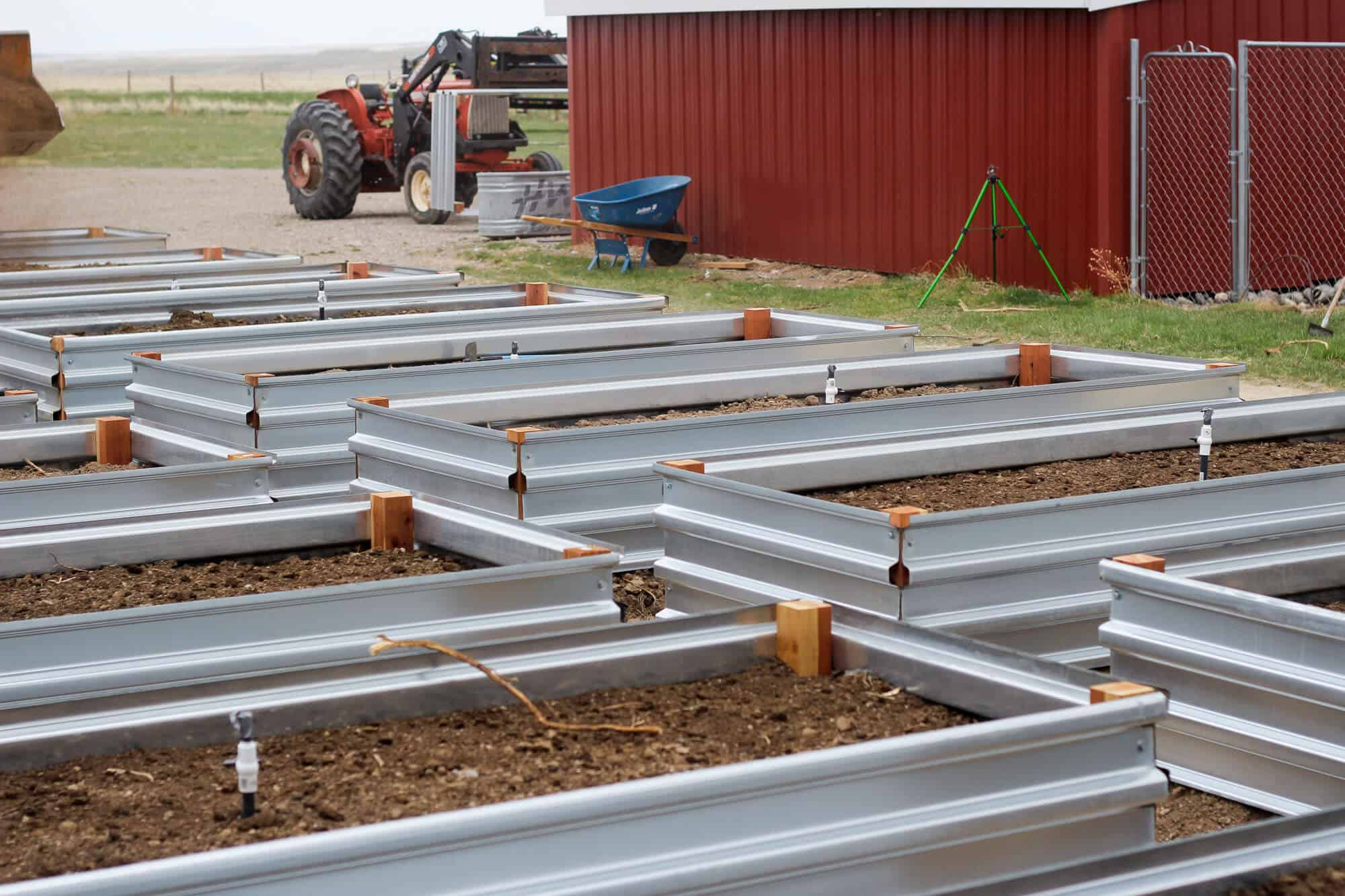 Building Our Raised Beds The Prairie Homestead