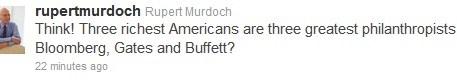 Rupert tweets social media strategy