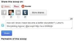 Social media sharing on Scoop.it