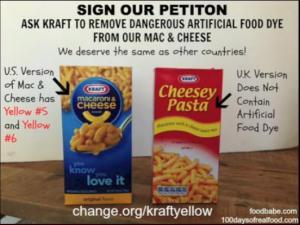 Kraft Petition against food dye