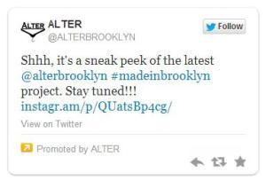 Alter Clothing sponsored tweet