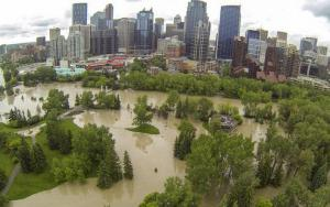Downtown Calgary totally evacuated because of flooding
